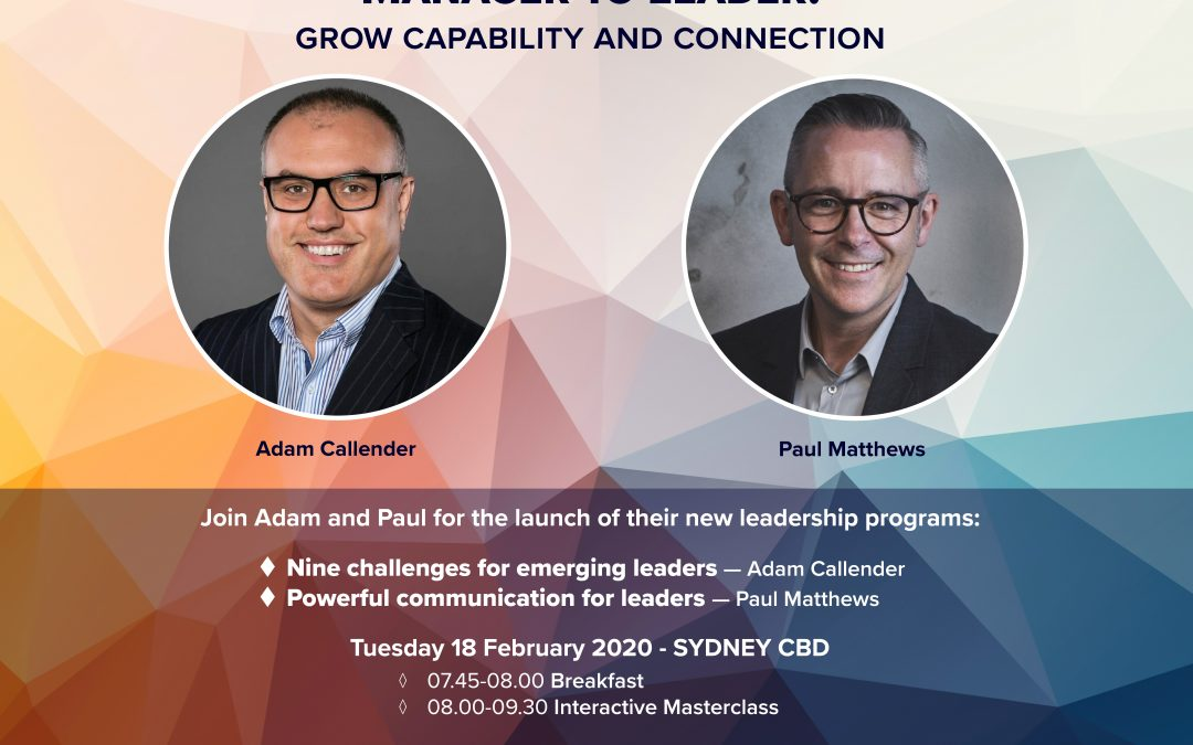 Leadership Breakfast in Sydney